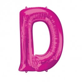 Pink Letter D Supershape Balloons