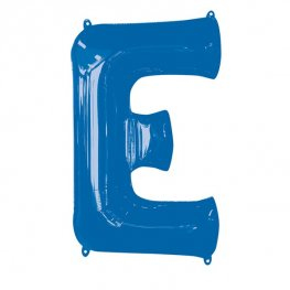 Blue Letter E Supershape Balloons