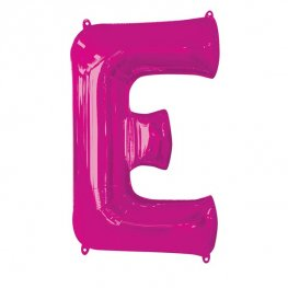 Pink Letter E Supershape Balloons