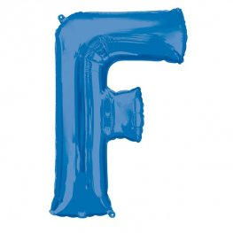 Blue Letter F Supershape Balloons