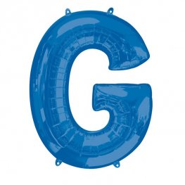 Blue Letter G Supershape Balloons