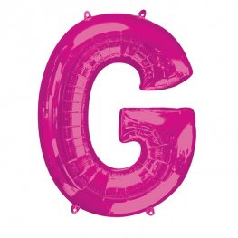 Pink Letter G Supershape Balloons
