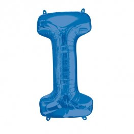 Blue Letter I Supershape Balloons