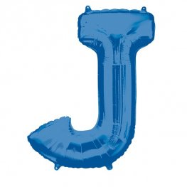 Blue Letter J Supershape Balloons