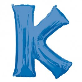 Blue Letter K Supershape Balloons