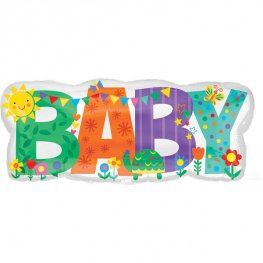 Baby Banner Cute Icons Supershape Balloons