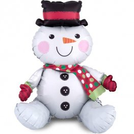 Sitting Snowman Air Filled Foil Balloons