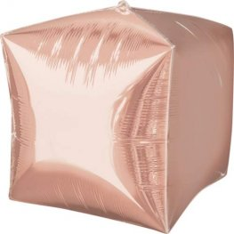 Rose Gold Colour Cubez Foil Balloon 3pk