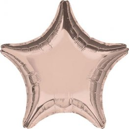 "19"" Rose Gold Star Foil Balloons"
