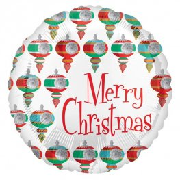 "18"" Retro Merry Christmas Foil Balloons"