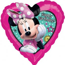 "18"" Minnie Happy Helper Birthday Foil Balloons"