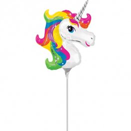 "14"" Unicorn Head Mini Shape Air Filled Balloons"