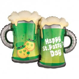 St Patty's Day Emoticon Mugs Supershape Balloons