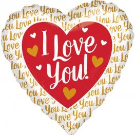 "28"" I Love You Gold Foil Balloons"