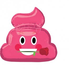 Pink Poop Emoticon Supershape Balloons
