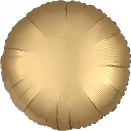 "18"" Satin Luxe Gold Sateen Circle Foil Balloons"