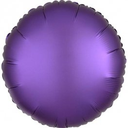"18"" Satin Luxe Purple Royal Circle Foil Balloons"