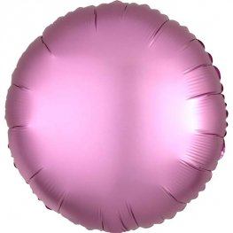"18"" Satin Luxe Flamingo Circle Foil Balloons"