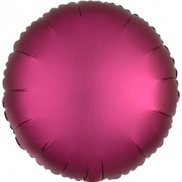 "18"" Satin Luxe Pomegranate Circle Foil Balloons"