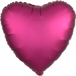 "18"" Satin Luxe Pomegranate Heart Foil Balloons"