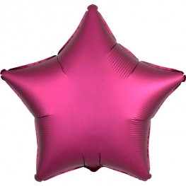 "18"" Satin Luxe Pomegranate Star Foil Balloons"