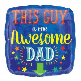 "18"" Awesome Dad Foil Balloons"