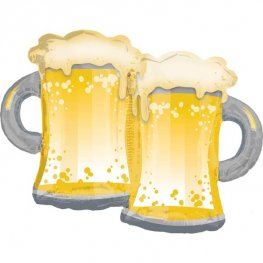 Beer Mugs Supershape Balloons