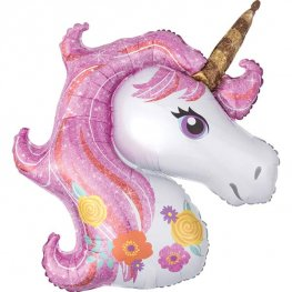 Magical Unicorn Head Shape Balloons