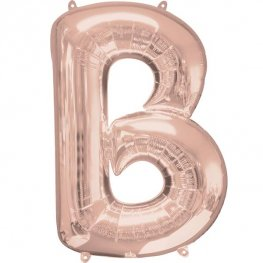 "16"" Rose Gold Letter B Air Fill Balloons"