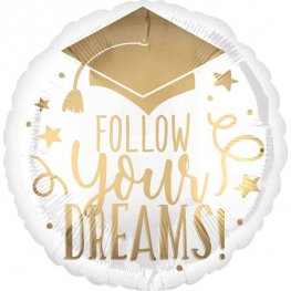 "18"" Follow Your Dreams Foil Balloons"