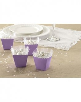 Lilac Favour Scallop Boxes 100pk
