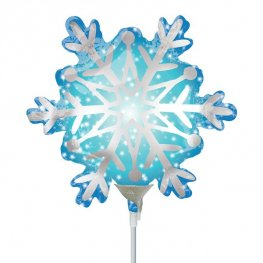 "9"" Satin Luxe Infused Snowflake Air Filled Balloons"
