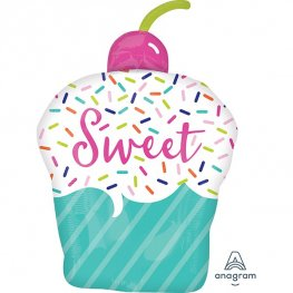 Sweets & Treats Cupcake Supershape Balloons