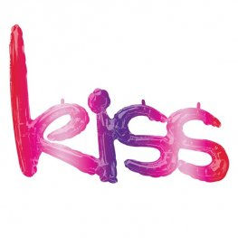 "27"" Kiss Ombre Phrase Air Filled Balloons"