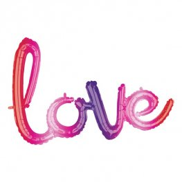 "31"" Love Ombre Phrase Air Filled Balloons"