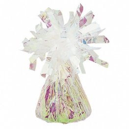 Iridescent Fringed Foil Balloon Weights 6oz