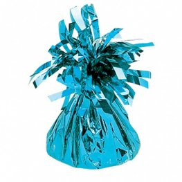 Light Blue Fringed Foil Balloon Weights 6oz