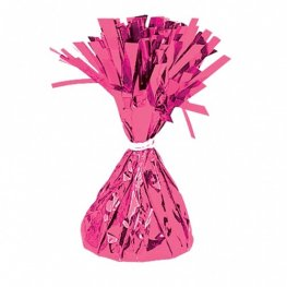 Magenta Fringed Foil Balloon Weights 6oz