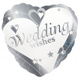 "18"" Wedding Wishes Heart Foil Balloons"