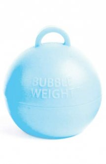 Light Blue Bubble Balloon Weights