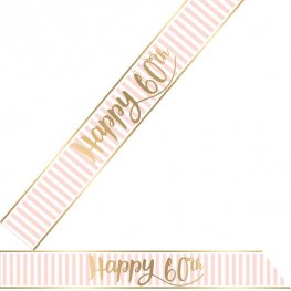Happy 60th Pink Chic Sash