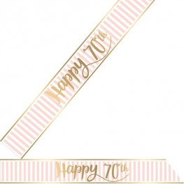 Happy 70th Pink Chic Sash