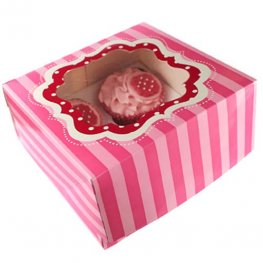 Perfectly Pink Cupcake Boxes x2