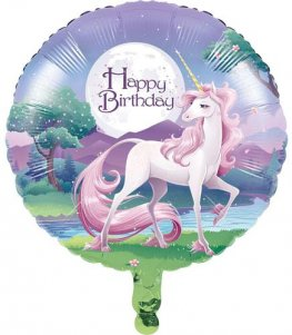 "18"" Unicorn Happy Birthday Foil Balloons"