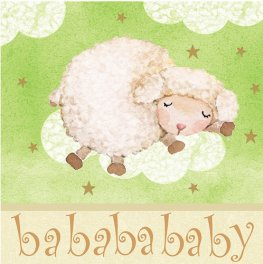 Ba Ba Baby Lunch Napkins x16