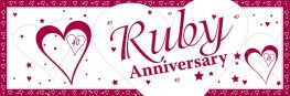 Ruby Anniversary Giant Banner