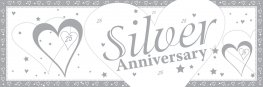 Silver Anniversary Giant Banner