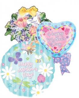 Mothers Day Assorted Air Filled Balloons