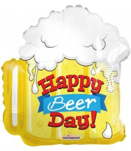 "18"" Happy Birthday Beer Shape Foil Balloons"