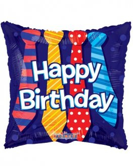 "18"" Happy Birthday Ties Foil Balloons"